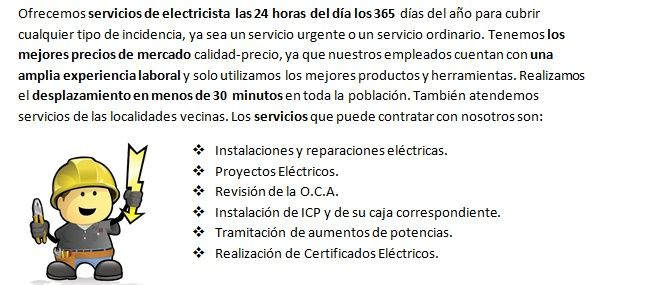 Electricista en Pizarra con urgencia